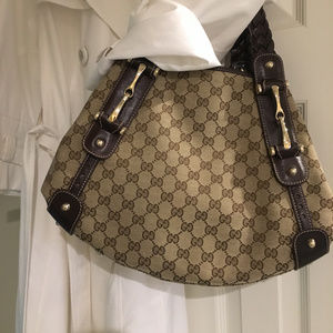 Gucci Handbag with Leather Braided Strap